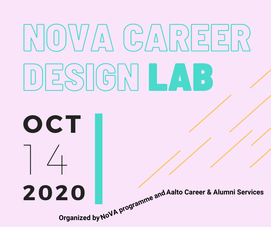 Event poster NoVA Career Design Lab