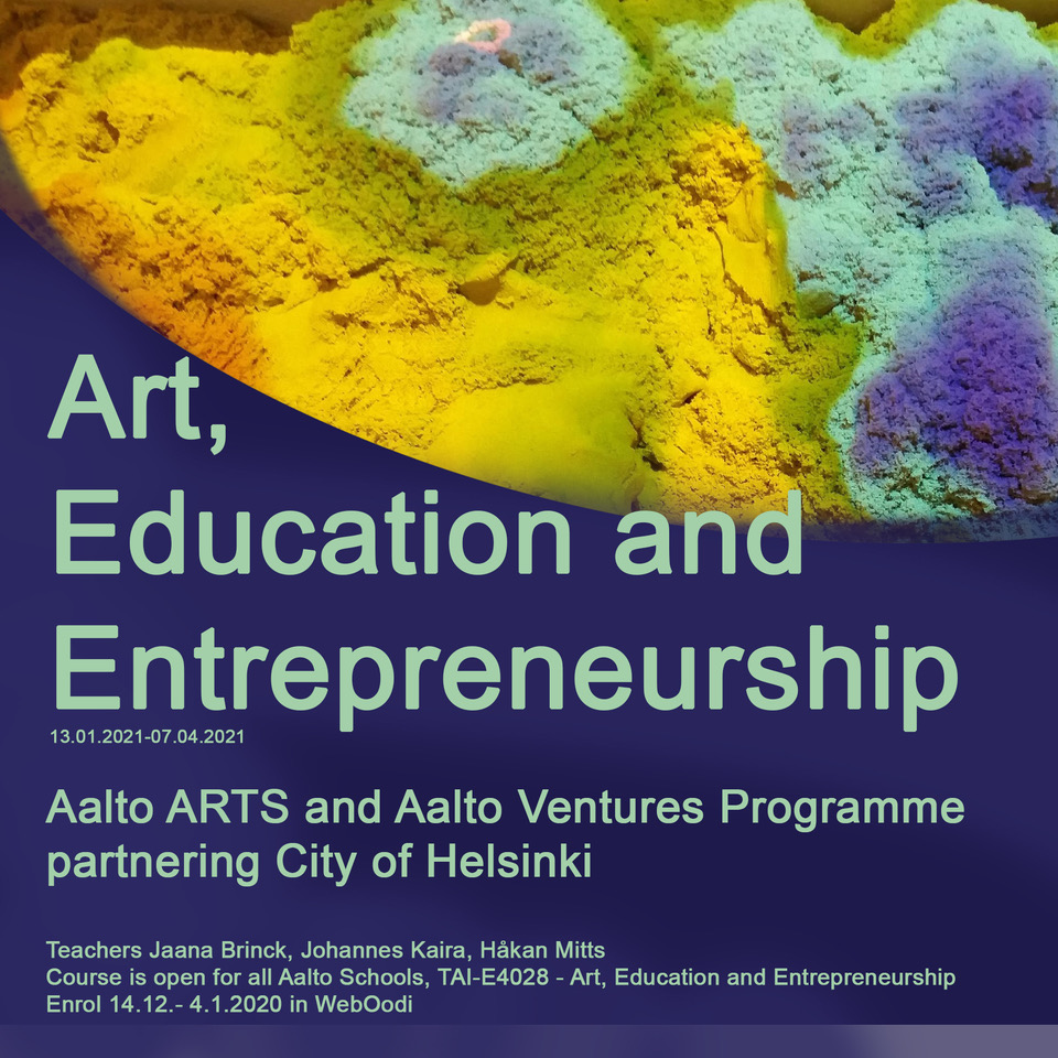 Combining Augmented Reality with Education! Art, Education and Entrepreneurship Course Mid-Term Diary