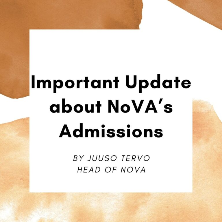 Important Update about NoVA's Admissions